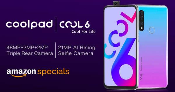 酷派Cool 6参数爆光:48MP主摄+联发科Helio P70