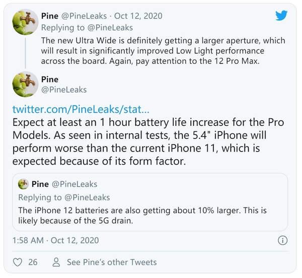 曝iPhone12系列配置大升级,拍照续航更强