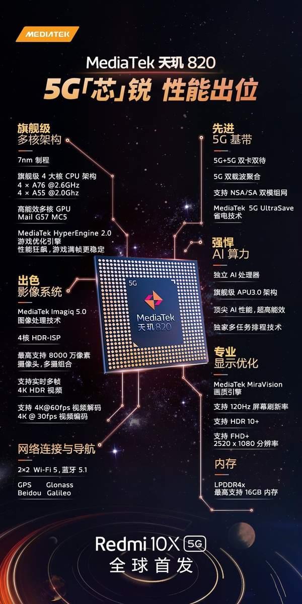红米10x是5g手机吗?红米10x支持5G网络吗?