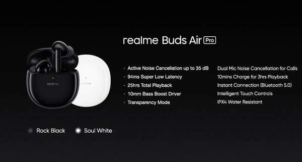 realme BudsAir Pro无线耳机今日开售,售价499元