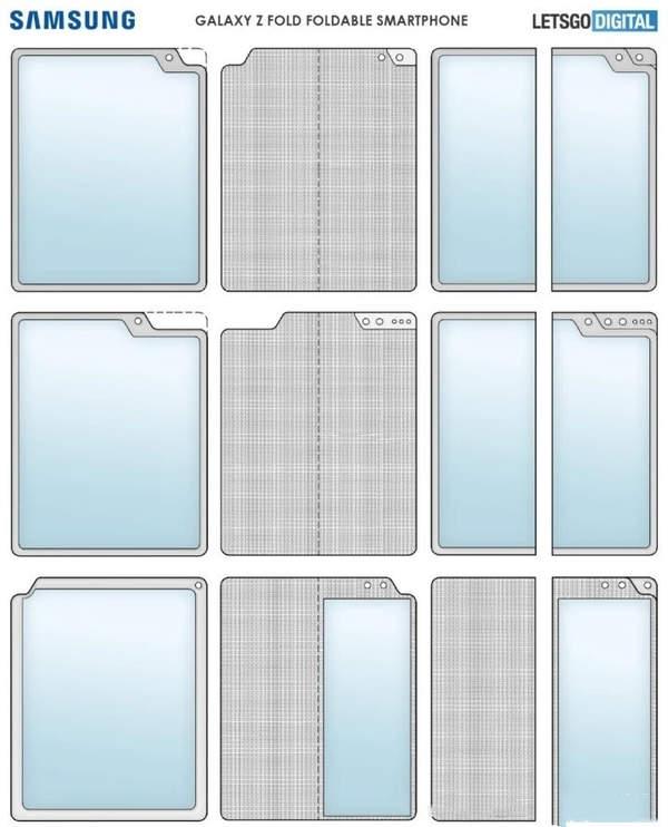三星新款折叠屏手机曝光:外折设计+异形屏