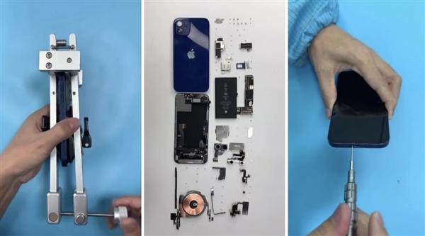 iPhone12真机拆解图组,iPhone12内部构造一览