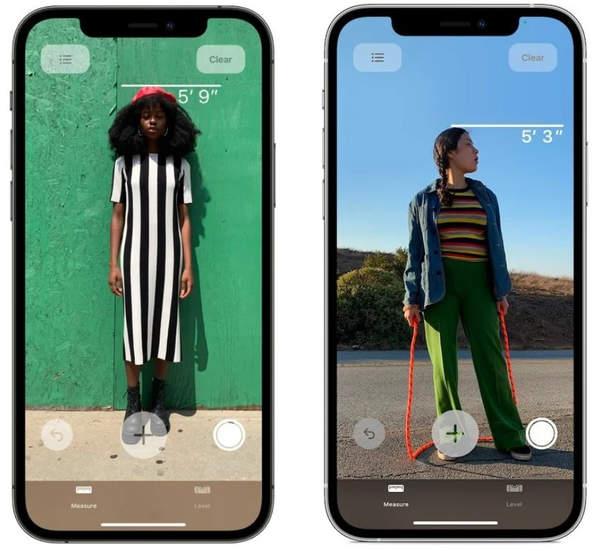 iPhone12Pro系列LiDAR新玩法:能检测身高