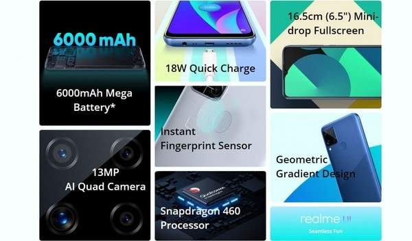 realmeC15新版本已上市,搭載驍龍460處理器