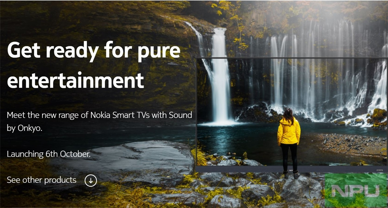 诺基亚新款智能电视官宣,将于10月6日正式上市