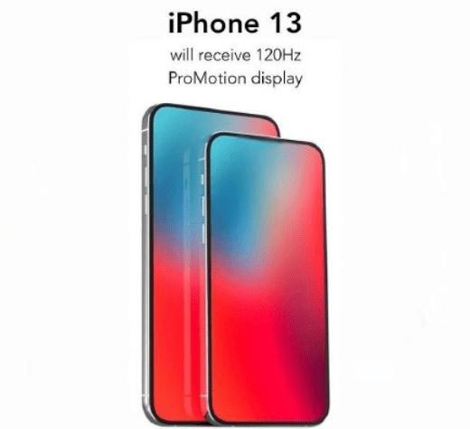 iPhone13渲染图曝光,配备120HZ高刷屏