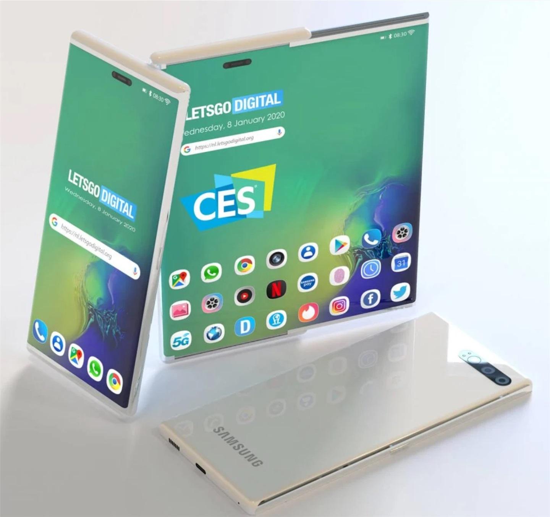 卷曲式显示屏的智能手机:三星明年或将首发