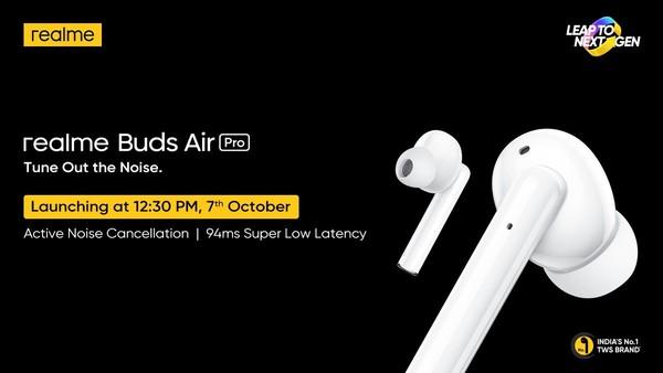 realme Buds Air Pro印度正式發布,售價約400元