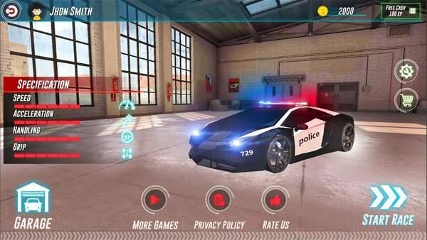 警车追逐3D破解版图3