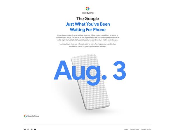 googlepixel4a发布时间:8月3日正式上市