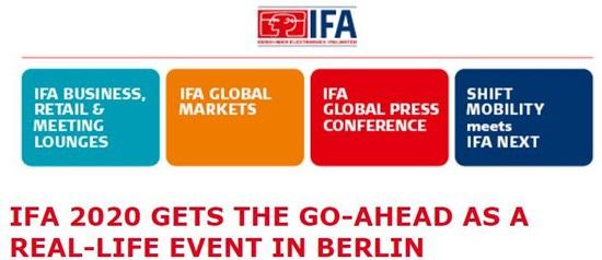 2020年IFA(柏林消費電子展)如期舉行,三星放棄參加
