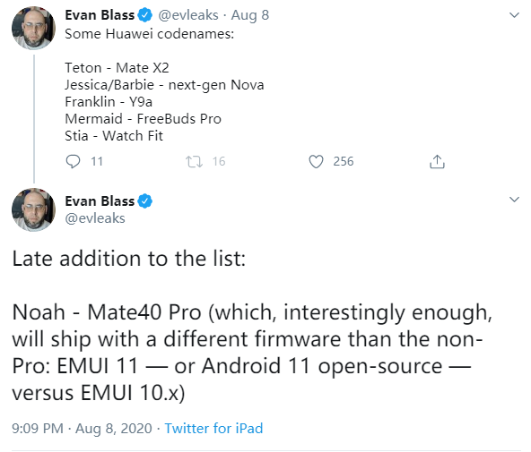 华为mate40Pro将预装EMUI 11,Mate 40只有EMUI 10