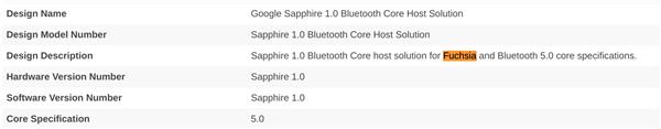 将取代安卓系统?谷歌Fuchsia OS操作系统已获蓝牙认证