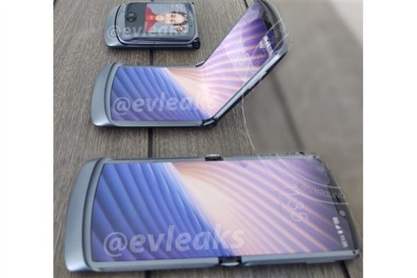 摩托罗拉翻盖折叠屏手机外形曝光!将在下月正式发布!