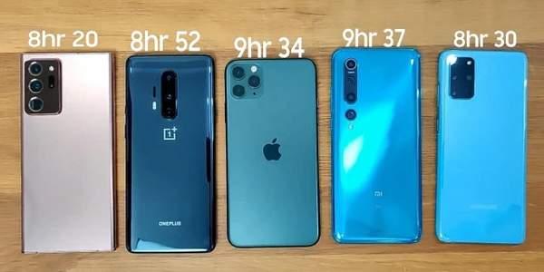 续航能力强的手机有什么?五款手机实测对比!