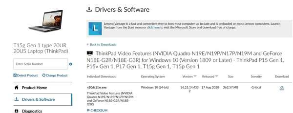 联想ThinkPad通过认证,型号或为T15g
