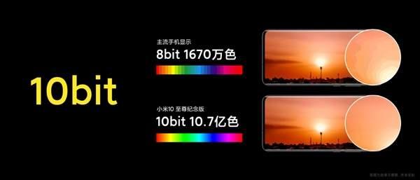 小米10至尊纪念版屏幕评测,色彩增强64倍!