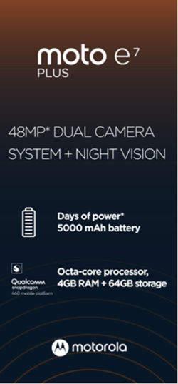 摩托罗拉E7 Plus参数配置曝光:骁龙460+5000mAh