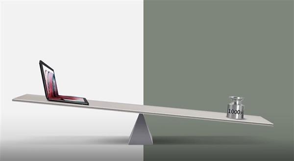 联想首款折叠屏电脑官宣:重量不到1千克
