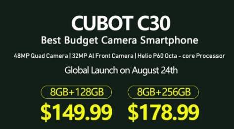 Cubot C30已发布:6.4英寸+4200mAh