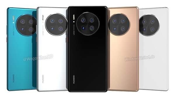 华为Mate40 Pro最新渲染图曝光,采用出色的相机技术