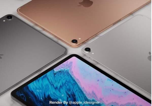 苹果iPad Air 4渲染图曝光:三种配色+全面屏