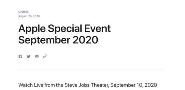苹果官宣:iPhone12系列新品将于9月10正式发布!