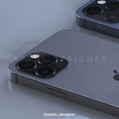 iPhone12Pro/ProMax渲染图再曝光:浴霸三摄+LiDAR