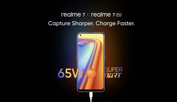 realme 7系列即将上市印度,采用挖孔屏设计+65w闪充