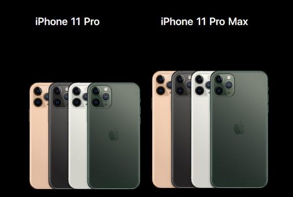 苹果11Pro和Max有什么区别,参数配置对比