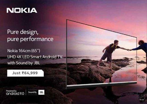 诺基亚推出第三款智能电视,售价约合人民币6100元