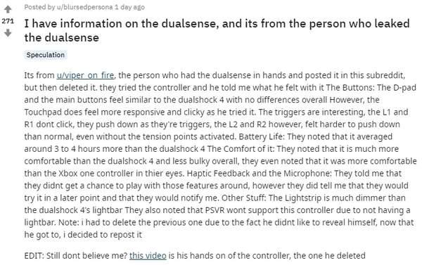 PS5手柄DualSense玩家评测:手感,续航远超DS4
