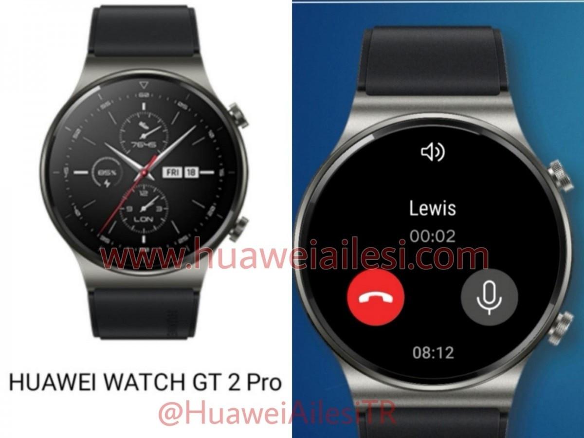 华为Watch GT 2 Pro只能手表曝光,边框更窄支持无线充电