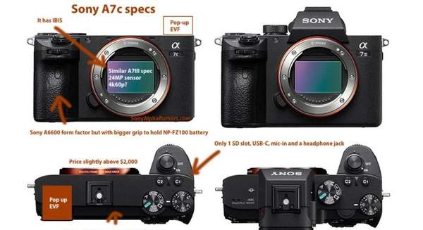 A7c新款全画幅无反相机即将发布,或在9月中旬
