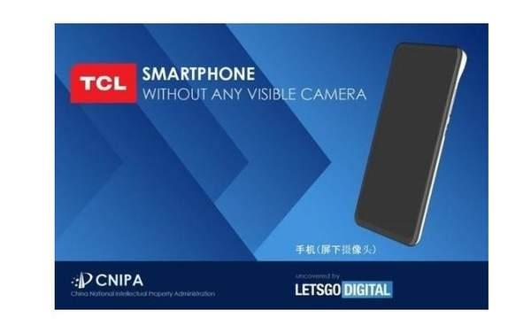 TCL屏下摄像头手机外观专利曝光:顶部明显凸起