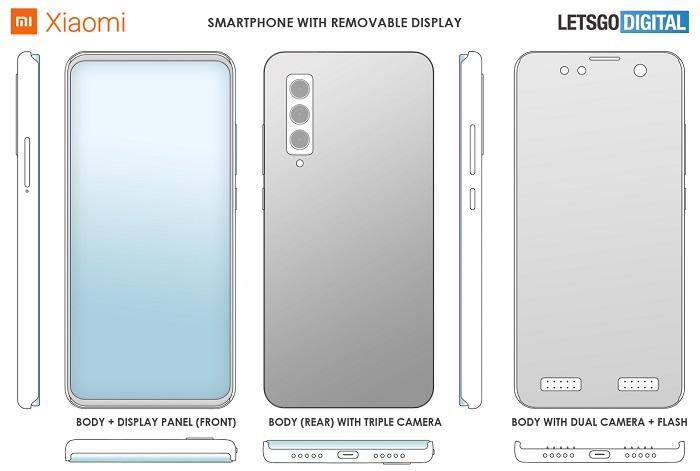 """小米""""分體式手機""""專利:顯示屏可從外殼上拆卸!"""