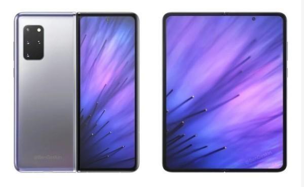三星5g折叠手机新款:三星ZFold2高清渲染图曝光