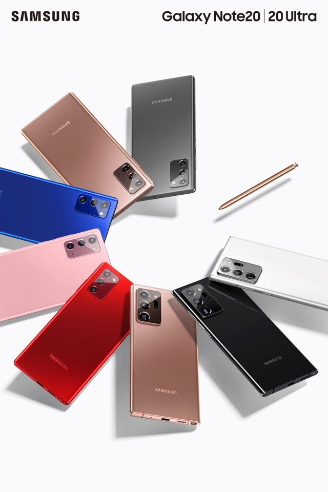 三星Galaxy Note20新配色红粉蓝,大概只是地区限定?