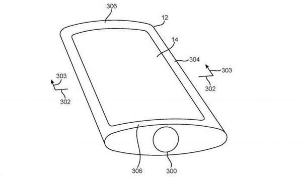 苹果新专利曲面iPhone机身,环绕式显示屏更圆润