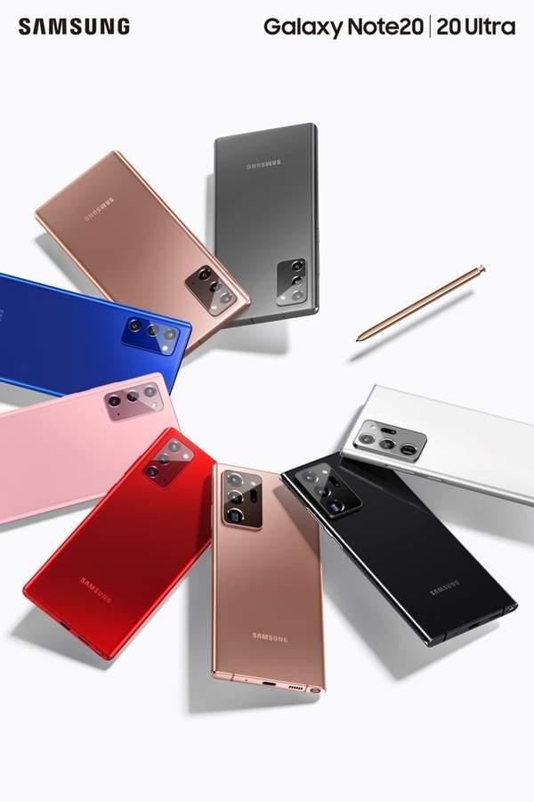 三星Galaxy Note20新配色紅粉藍,大概只是地區限定?