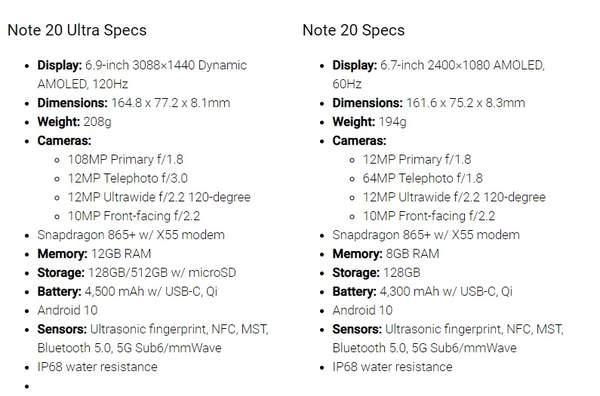 三星Note20/Ultra配置评测:搭载骁龙865Plus