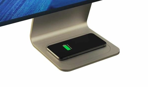 iMac底座可给iPhone充电?新款无线充电器?