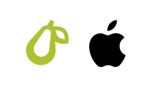 """苹果起诉""""梨""""公司:反对带有水果徽标的小型企业"""