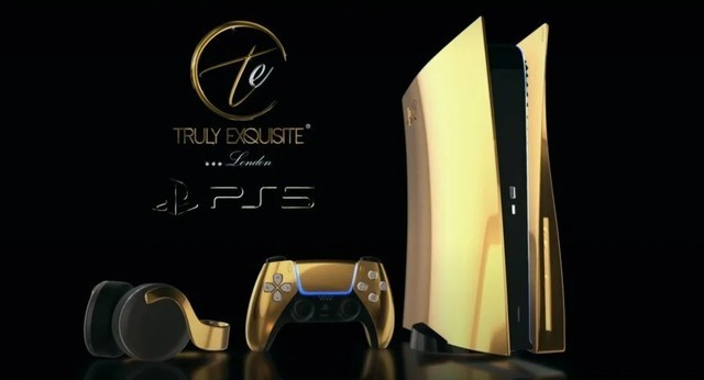 24K純金版PS5開啟預購,售價約7.1萬元