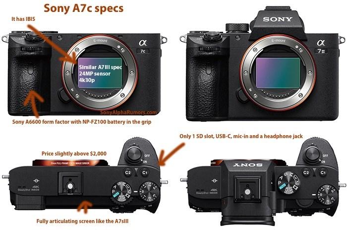 索尼A7c新相机售价曝光,约合人民币16987元