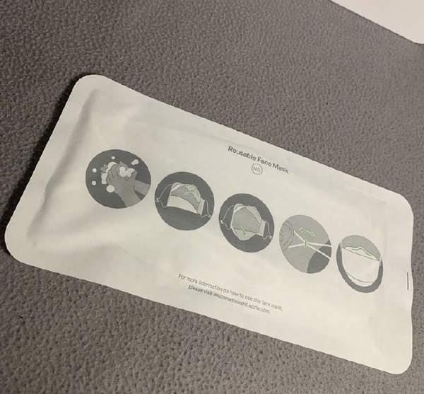 苹果口罩实物图曝光,可重复使用5次