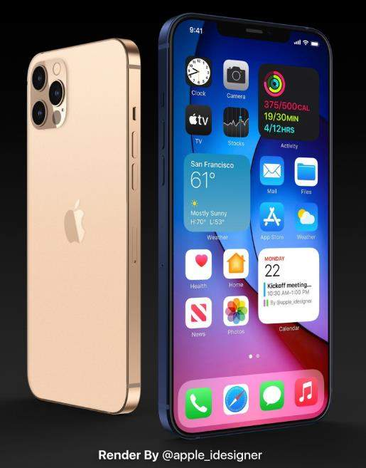iPhone 12 Pro系列渲染图曝光:像极了无Home键的iPhoneSE