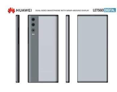 华为全面屏手机外观专利曝光:搭载环绕屏+后置三摄设计