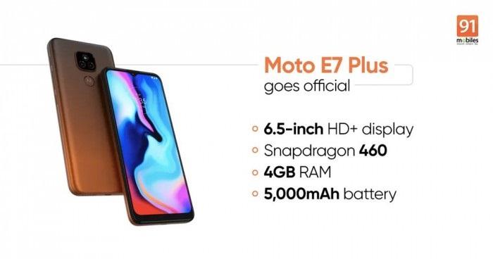Moto E7 Plus正式发布:骁龙460+后置双摄,售价1925元