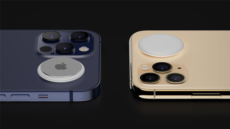 iPhone12+AirTags配套渲染图曝光,网友:略微有些累赘
